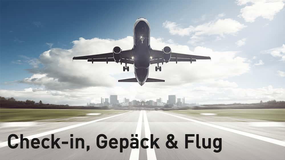 Link zu allen Fragen rund um Checkin und Flug